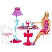 Boneca-Barbie-Real-com-Moveis-de-Sala-de-Jantar-da-Mattel