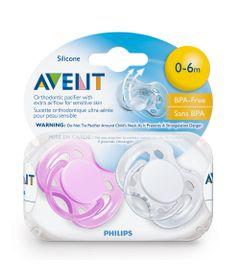 Chupeta-FreeFlow-BPA-Free-0-a-6-Meses-Double-Pack-Rosa-e-Branca-Philips-Avent
