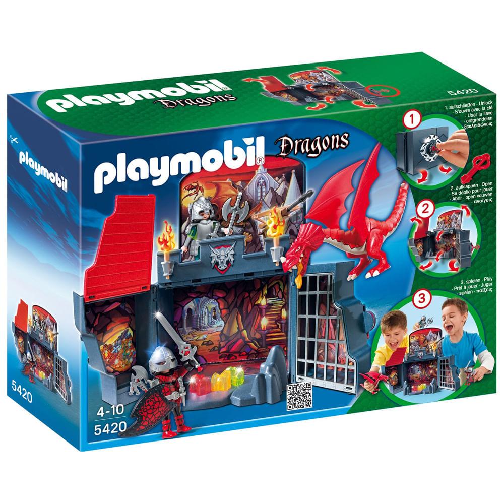 Playmobil Dragões - Box Secreto Calabouço do Dragão - 5420