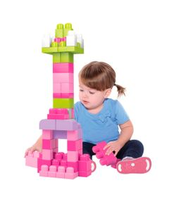 Conjunto-Mega-Bloks---Primeiros-Construtores-60-Pecas---Rosa---Mattel