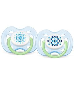 4410190-362163-Chupeta-Contemporanea-FreeFlow-0-a-6-Meses-Double-Pack-Azul-e-Verde-Philips-Avent
