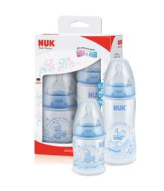 5027762-7896098806968-PA744380-UA-Kit-com-2-Mamadeiras-NUK-First-Choice-Rose---Blue-150-ml-S1-300ml-S2