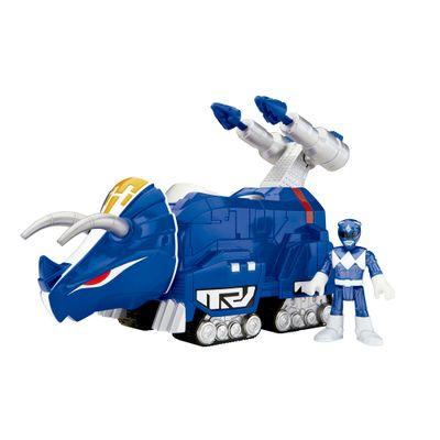 Figura-Mighty-Morphin-Power-Rangers---Zord-Rangers---Ranger-Azul-e-Triceratops---Fisher-Price--1