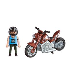 Playmobil-Esporte-e-Acao---Motocicleta-Marrom---5527