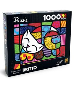 Quebra-Cabela-Romero-Britto---Cat---1000-Pecas---Grow