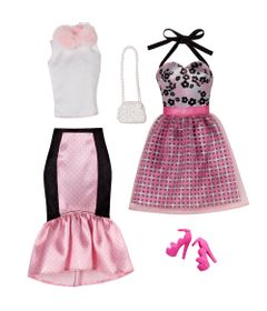 Pack-Com-2-Vestidos-Barbie-Fashion---Serie-12---Mattel