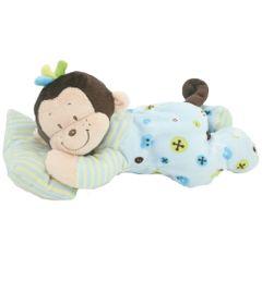 Pelucia-Macaco-Sonequinha---Azul---38-cm---Bee-Me-Toys