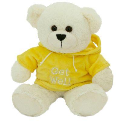 Pelucia-Urso-com-Moletom---Amarelo---24-cm---Bee-Me-Toys