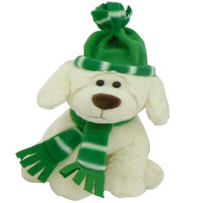 Pelucia-Cachorro-no-Inverno---Verde---23-cm---Bee-Me-Toys