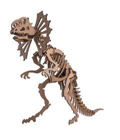 Quebra-Cabeca-3D---Dinossauro---Dilofossauro---40-Pecas---Pasiani-Brinquedos