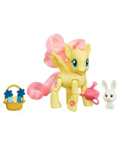 Mini-Figura-Articulada---My-Little-Pony-Explore-Equestria---Colheita-de-Flores---Fluttershy---Hasbro