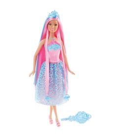 Boneca-Barbie-Colecionavel---Reinos-Magicos---Princesas-Penteados-Magicos---Cabelo-Pink---Mattel