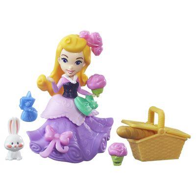 Mini-Boneca-com-Acessorios---Disney-Princesas---Little-Kingdom---Aurora-com-Cesta-de-PicNic---Hasbro