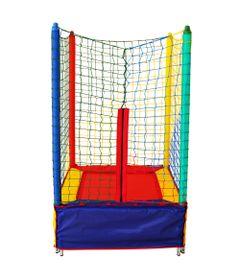 Cama-Elastica-Quadrada---1-m---Multicolorida---Henri-Trampolim-