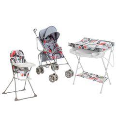 Kit-Carrinho-de-Passeio-com-Cadeira-de-Alimentacao-e-Banheira-Com-trocador---Formula-Baby---Galzerano