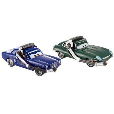 Veiculos-Hot-Wheels---Disney-Cars-2---Pack-com-2-Veiculos---Brent-Mustangburger-e-David-Hobbscapp-com-Headset---Mattel