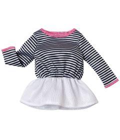 Roupinha-para-Boneca-Barbie---Vestido-Listrado-e-Branco---Mattel