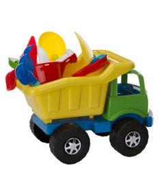 Carrinho-de-Praia---Super-Truck-com-Acessorios---Amarelo-e-Verde---Monte-Libano