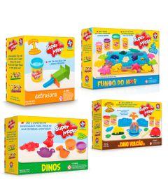Conjunto-Super-Massa---Massa-de-Modelar---Moldes-Figuras-do-Mar-Extrusora-Dino-Vulcao-e-Dinos-Sortidos---Estrela