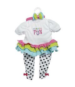 Roupa-para-Bonecas---Adora-Doll---Macacao-Branco---Circus-Fun---Shiny-Toys