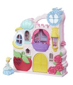 Playset-com-Figuras---Princesas-Disney---Little-Kingdom---Mini-Castelo-da-Cinderela---Hasbro