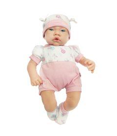 Boneca---Bebezinho-da-Mamae-com-Macacao-Rosa-Florido---Cotiplas