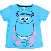 Camiseta-Manga-Curta-em-Meia-Malha---Azul---Monstros-S-A---Disney---1