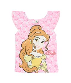 Blusa-Manga-Curta-com-Strass---Branca---Bela---A-Bela-e-a-Fera---Princesas---Disney---1