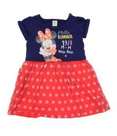 Vestido-Manga-Curta-em-Meia-Malha---Marinho-e-Vermelho---Minnie---Disney---P