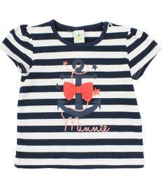 Blusa-Manfa-Curta-em-Cotton-Listrado---Branco-Marinho-e-Vermelho---Minnie-Navy---Disney---P