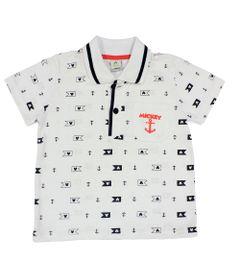 Camiseta-Polo-Manga-Curta-em-Meia-Malha---Branca-e-Marinho---Mickey-Navy---Disney---1