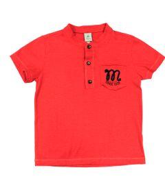 Camiseta-Manga-Curta-em-Meia-Malha-Flame---Vermelho---Mickey-Navy---Disney---1