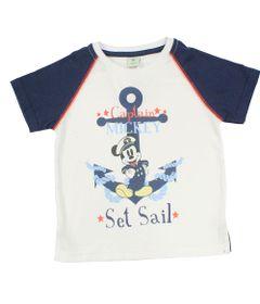 Camiseta-Manga-Curta-em-Meia-Malha---Branca-e-Marinho---Mickey-Navy---Disney---1