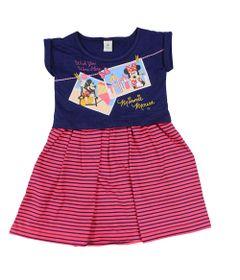 Vestido-Manga-Curta-em-Meia-Malha---Marinho-e-Pink---Minnie---Disney---2