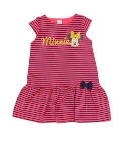 Vestido-Manga-Curta-em-Fio-Tinto---Listrado-Pink-e-Marinho---Minnie---Disney---M