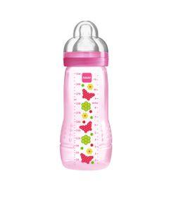 Mamadeira-Fashion-Bottle-Grils-330-ml---Rosa---Borboletas---MAM