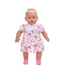 Boneca-Meu-Bebe---Colecao-Bebezinho-Negra---Vestido-Florido---Estrela