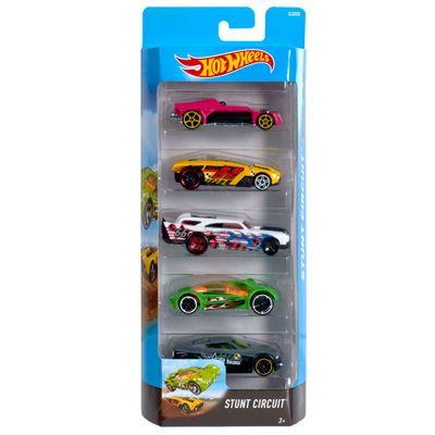 Carrinhos-Hot-Wheels---Pacote-com-5-Carros---Stunt-Circuit---Mattel