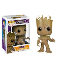 Figura-Colecionavel---Funko-POP---Disney---Marvel---Os-Guardioes-das-Galaxias---Groot---Funko