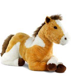Pelucia-95-CM---Bicho-Mundi---Cavalo-Grande---Bege-e-Branco---DTC