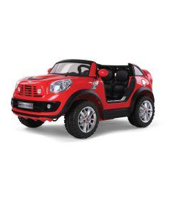 Mini-Veiculo-Eletrico---Cooper-com-Controle-Remoto-12-V---2-lugares---Vermelho---Bandeirante-2631-frente