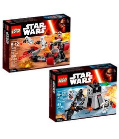 Kit-LEGO---Disney---Star-Wars---75132-e-75134---Conjunto-de-Batalha-e-Nave-de-Batalha-da-Primeira-Ordem