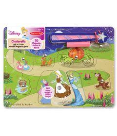 Pecas-de-Encaixe-de-Madeira-com-Ima---Disney---Princesas---Cinderela---New-Toys