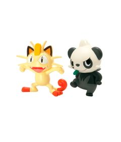 Mini-Figuras-Colecionaveis-Pokemon---Meowth-Vs-Pancham---Tomy