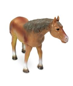 Figura-Bicho-Mundi---20-Cm---Cavalos---Marrom-e-Listra-Preta---DTC