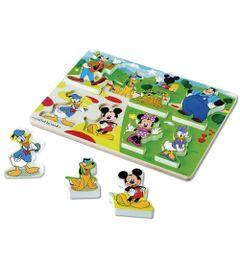 Quebra-Cabeca---Pecas-de-Encaixe-de-Madeira---Disney---Mickey-Mouse---New-Toys