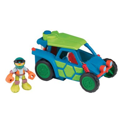 Boneco-Tartarugas-Ninjas-Half-Shell-Hero---Figura-com-veiculo---Mikey---Multikids