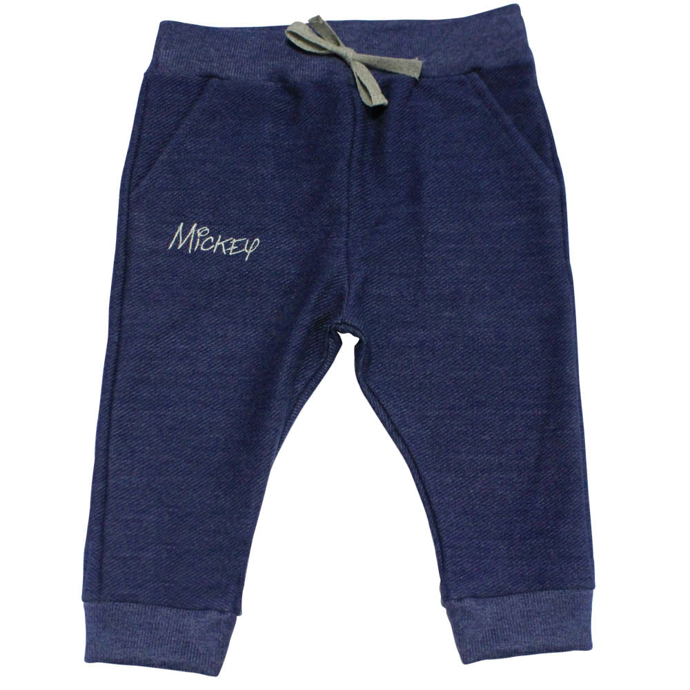 Calça de Moletom com Bordado - Mickey - Denin - Disney - G