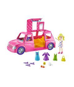 Mini-Boneca---Polly-Pocket---Polly-com-Veiculo---Limousine-Fashion---Mattel