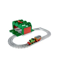 Playset---Thomas-e-Friends---Ferrovia-Portatil-com-Vagao---Galpao-Verde---Fisher-Price